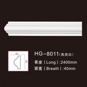 Good quality Crown Frames Mouldings - PU-HG-8011 highlight white – HUAGE DECORATIVE