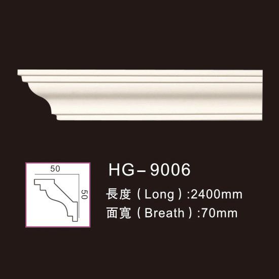 Super Purchasing for Polyurethane Foam Pu Chair Rails Moulding - Plain Cornices Mouldings-HG-9006 – HUAGE DECORATIVE