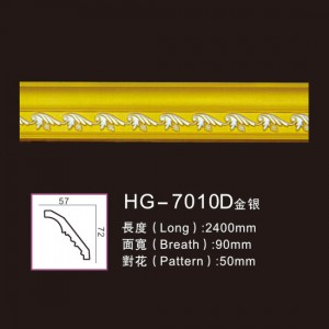 New Fashion Design for White Marble Fireplace Price - Effect Of Line Plate-HG-7010D gold silver – HUAGE DECORATIVE