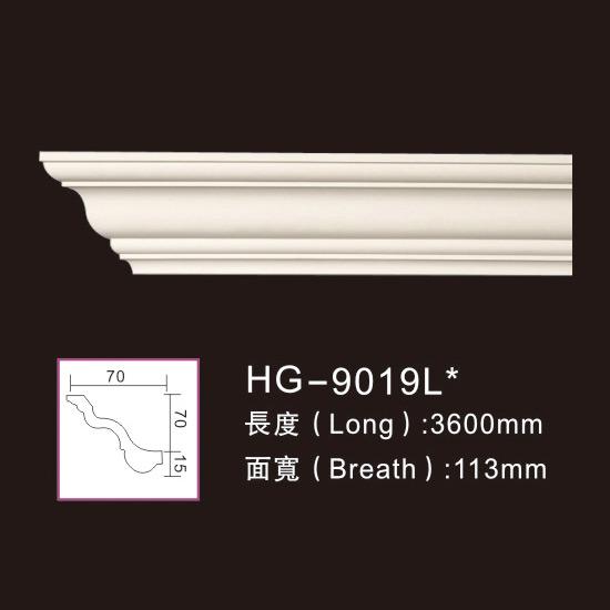 New Fashion Design for Decorative Ceilling Medallion - 3.6M Long Lines-HG-9019L – HUAGE DECORATIVE