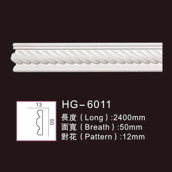One of Hottest for Cheap Columns - Carving Chair Rails1-HG-6011 – HUAGE DECORATIVE
