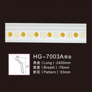 Big discounting Michelangelo Ceiling Medallion - Effect Of Line Plate-HG-7003A outline in gold – HUAGE DECORATIVE