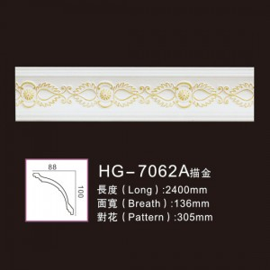 Factory directly supply Gypsum Crown Moulding - Effect Of Line Plate-HG-7062A outline in gold – HUAGE DECORATIVE