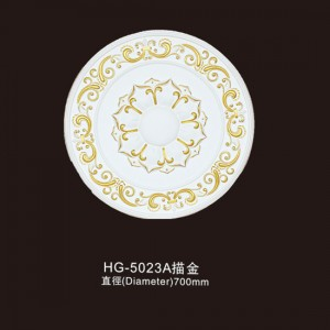 Ceiling Mouldings-HG-5023A outline in gold