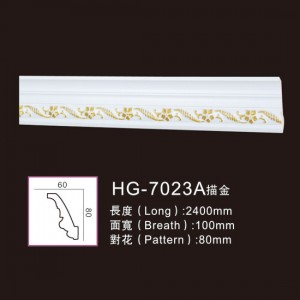 Effect Of Line Plate-HG-7023A outline in gold