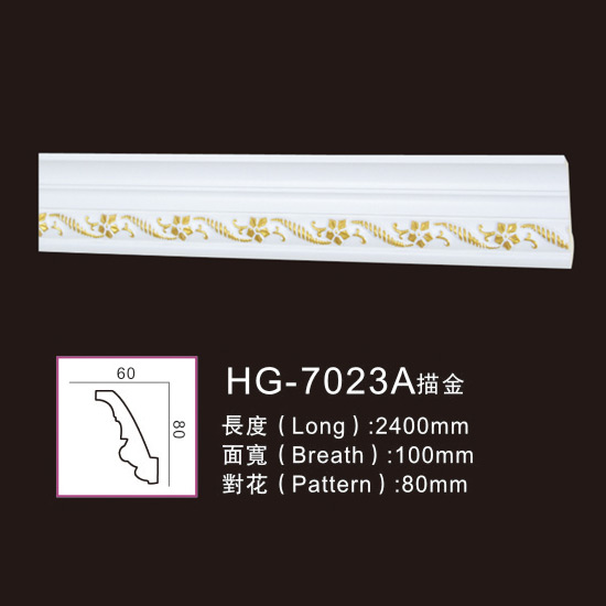 Effect Of Line Plate-HG-7023A outline in gold Featured Image