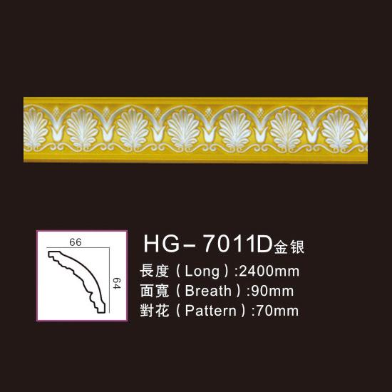 OEM/ODM Supplier Embellished Corbel Design - Effect Of Line Plate-HG-7011D gold silver – HUAGE DECORATIVE