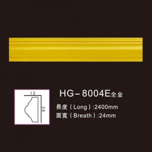 High Quality Carrara Marble Fireplace - Effect Of Line Plate-HG-8004E full gold – HUAGE DECORATIVE