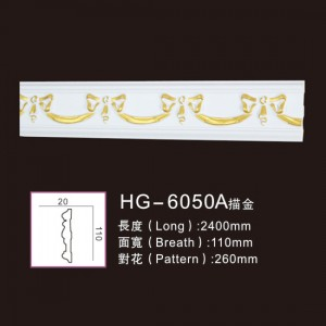 One of Hottest for Cheap Columns - Effect Of Line Plate-HG-6050A outline in gold – HUAGE DECORATIVE