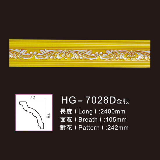 Manufacturer of Pine Lvl Veneers - Effect Of Line Plate-HG-7028D gold silver – HUAGE DECORATIVE