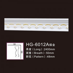 Excellent quality Custom Ancient Medallions - Effect Of Line Plate-HG-6012A outline in gold – HUAGE DECORATIVE