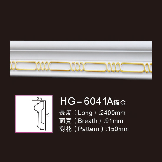 Hot Selling for Ceilling Corbel - Effect Of Line Plate-HG-6041A outline in gold – HUAGE DECORATIVE Featured Image