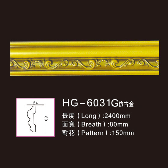 Ordinary Discount Promotional Pu Medallions - Effect Of Line Plate1-HG-6031G Antique Gold – HUAGE DECORATIVE