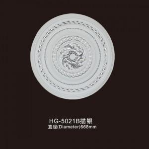 Ceiling Mouldings-HG-5021B outline in silver