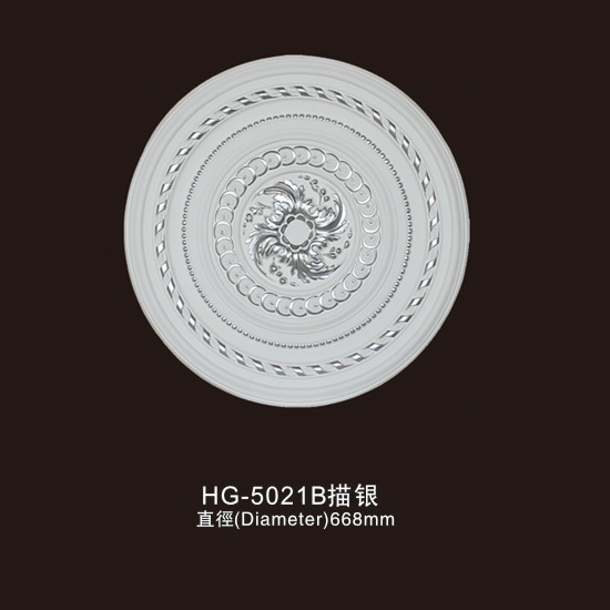Factory source Stainless Steel Fireplace - Ceiling Mouldings-HG-5021B outline in silver – HUAGE DECORATIVE