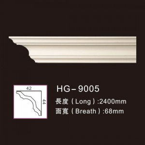 Chinese Professional Walking Staff Medallions - Plain Cornices Mouldings-HG-9005 – HUAGE DECORATIVE