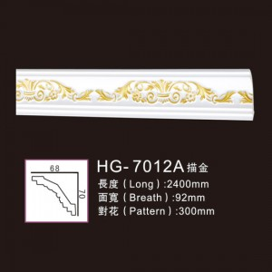 2019 Good Quality Electrical Fireplace - Effect Of Line Plate-HG-7012A outline in gold – HUAGE DECORATIVE