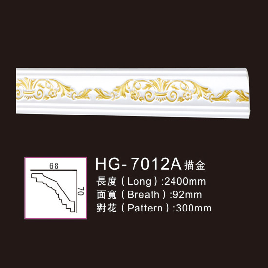 factory customized Elegance Cast Iron Fireplace - Effect Of Line Plate-HG-7012A outline in gold – HUAGE DECORATIVE