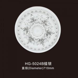 Ceiling Mouldings-HG-5024B outline in silver