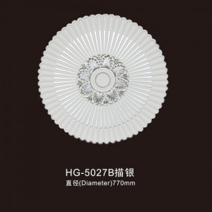 factory low price Gypsum Moulding Medallion - Ceiling Mouldings-HG-5027B outline in silver – HUAGE DECORATIVE