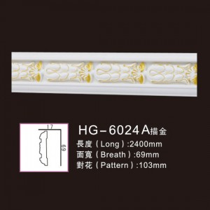 Good User Reputation for Antique White Fireplace - Effect Of Line Plate-HG-6024A outline in gold – HUAGE DECORATIVE