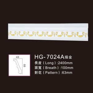 Wholesale Sports Medals And Medallion - Effect Of Line Plate-HG-7024A outline in gold – HUAGE DECORATIVE