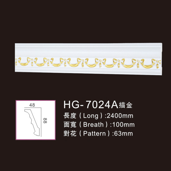 Low MOQ for Pu Foam Crown Moulding - Effect Of Line Plate-HG-7024A outline in gold – HUAGE DECORATIVE