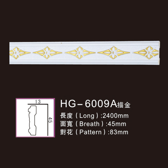 Hot New Products Bio Ethanol Fireplace - PU-HG-6009A outline in gold – HUAGE DECORATIVE Featured Image