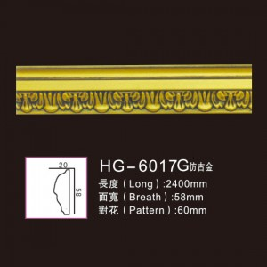 Effect Of Line Plate1-HG-6017G Antique Gold