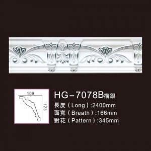 Effect Of Line Plate-HG-7078B outline in silver