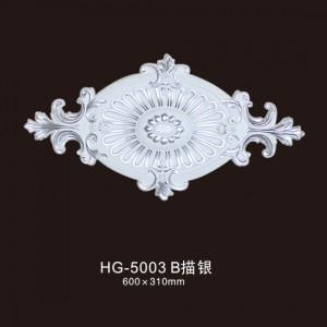 Ceiling Mouldings-HG-5003B outline in silver
