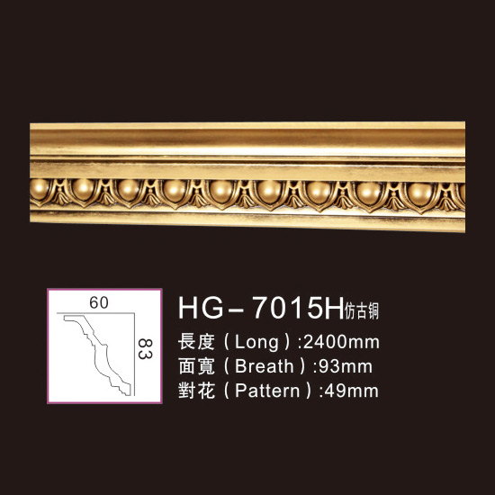 Best Price on Ceilling Medallions - Effect Of Line Plate1-HG-7015H Antique Copper – HUAGE DECORATIVE
