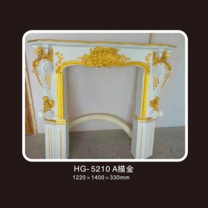 Fireplace Corbels & Surface Mounted Nicbes-HG-5210A outline in gold