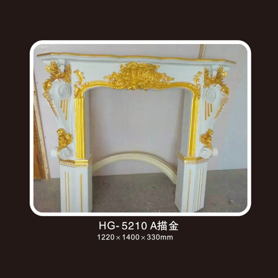 Fireplace Corbels & Surface Mounted Nicbes-HG-5210A outline in gold Featured Image