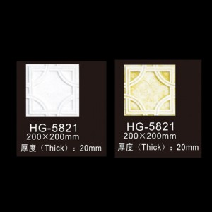 Factory supplied Gypsum Ceiling Medallion - Wall Plaques-HG-5821 – HUAGE DECORATIVE