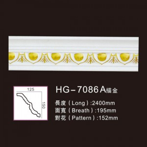 Good Wholesale Vendors Walnut Veneer Mdf - Effect Of Line Plate-HG-7086A outline in gold – HUAGE DECORATIVE