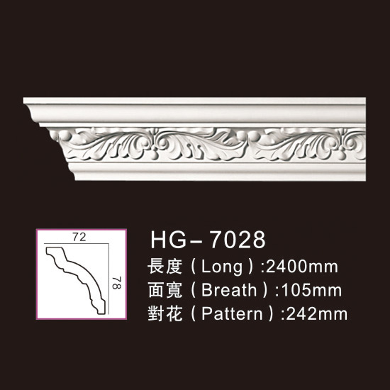 Excellent quality Custom Ancient Medallions - Carving Cornice Mouldings-HG7028 – HUAGE DECORATIVE Featured Image